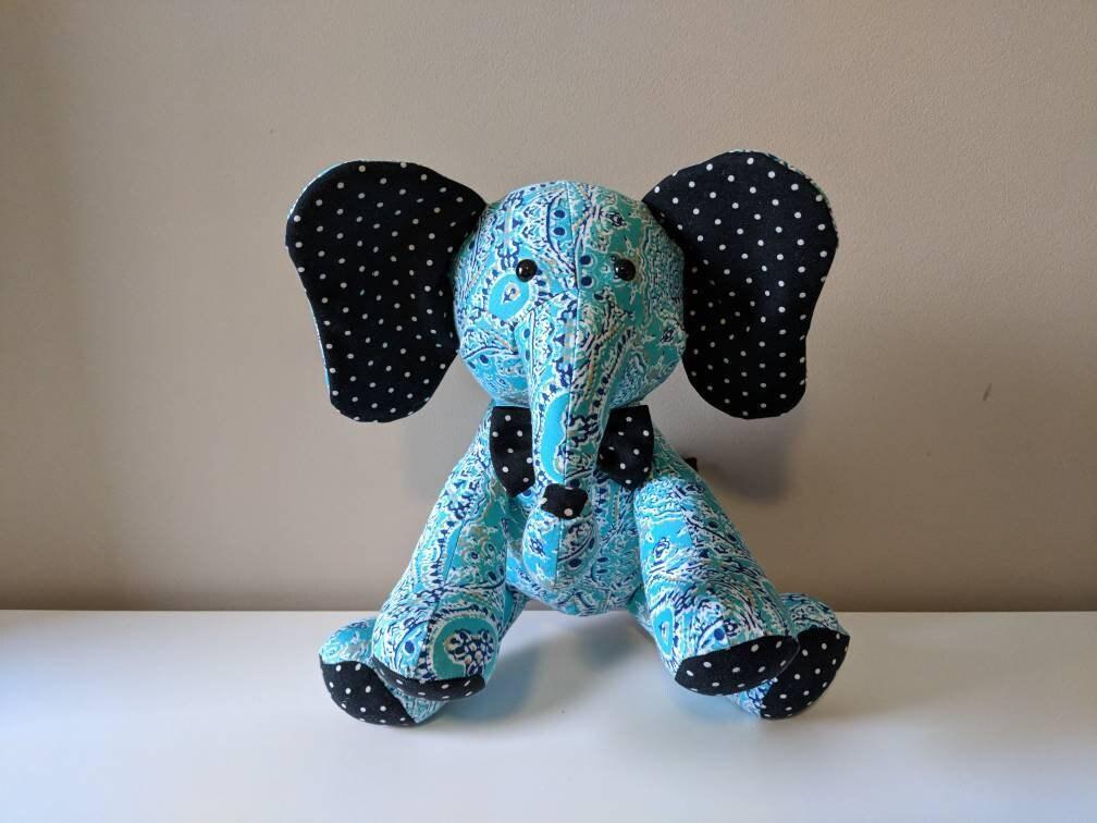 Mini Memory Elephant Receiving Blanket Elephant Baby
