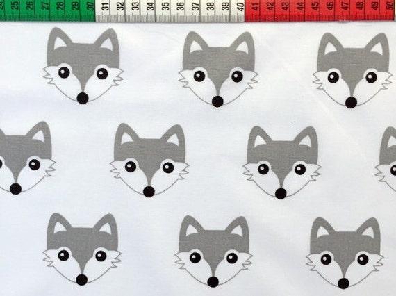 418183490a Fox Baby Blanket grey minky white minky modern baby