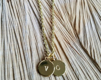 Essential Oil Diffusing Necklace with Initial Charm- Gold and Silver Available- Circle and Heart Charm Available