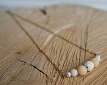 Essential Oil Diffusing Necklace with Jade and Lava Beads