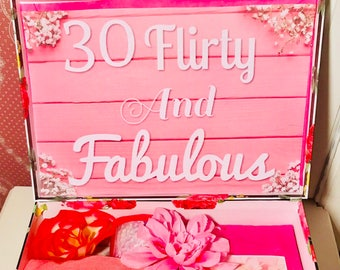 30 Flirty And Fabulous YouAreBeautifulBox 30th Birthday Girl30th Gift For Her Celebration Personized Box
