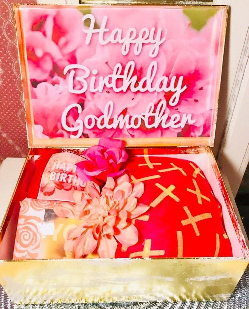 Godmother Birthday Gift Box  Happy Birthday Godmother  Godmother Gift  Will  you be my Godmother? youarebeautifulbox  Godmother proposal