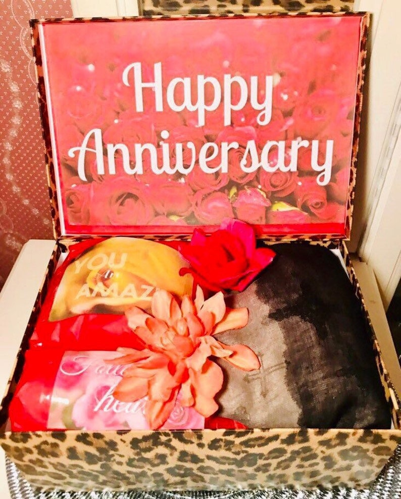 9ff26f325332 Personalized Anniversary Care Package. Anniversary Gift for