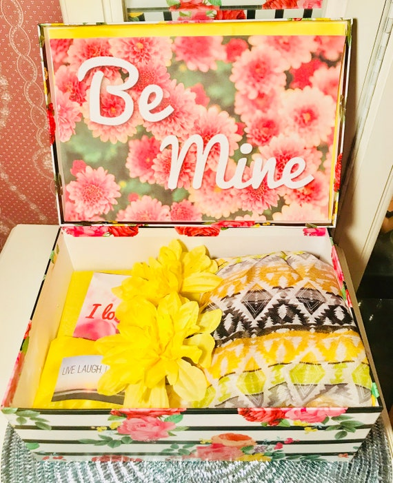 Belated Be Mine Youarebeautifulbox Girlfriend Gift College Etsy