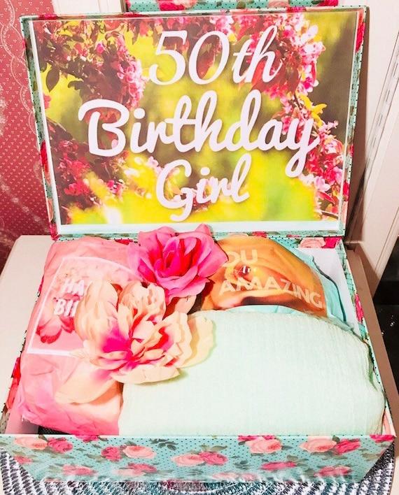 Astounding Happy 50Th Birthday Youarebeautifulbox 50Th Birthday Girl Etsy Personalised Birthday Cards Veneteletsinfo