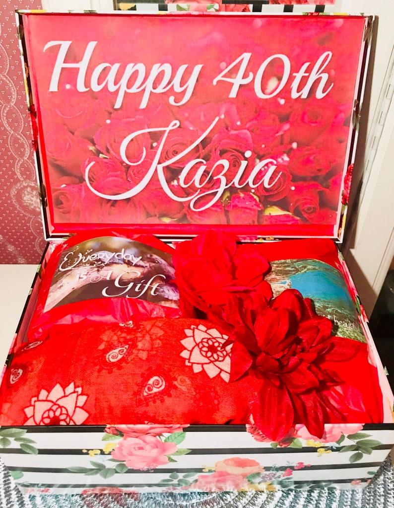 96e89aa12f7dd 40th Birthday Box. 40th youarebeautifulbox. 40 and Fabulous. 40th birthday  girl. 40th Birthday Gift Ideas. 40th Birthday Gift for Her.