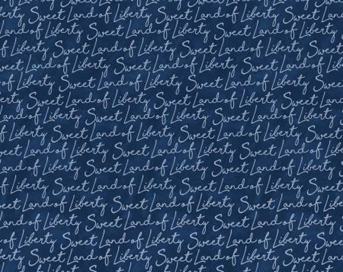Navy Sweet Land of Liberty of Land That I Love by Michael Miller Fabrics