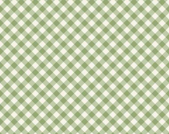 Gingham Garden Green Check, My Minds Eye, Riley Blake Designs, Gingham Fabric, Check Fabric, Yardage