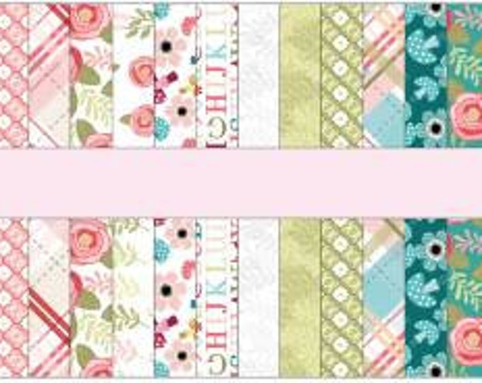 Kaisley Rose 2 1/2 inch Strips by Poppie Cotton