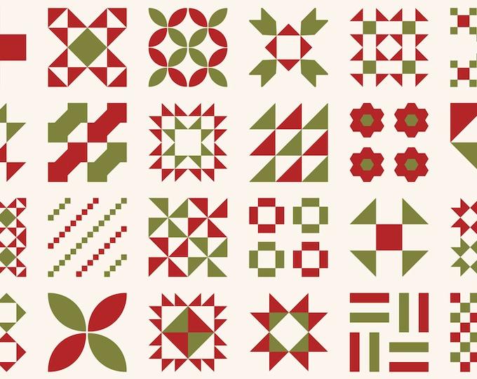 Red Barn Christmas Small Panel Vanilla, Sweetwater