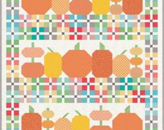 Pumpkin and Plaid Quilt Kit, Lori Holt Kit, Riley Blake Designs, Fall Quilt Kit, Pumpkin and Plaid Kit