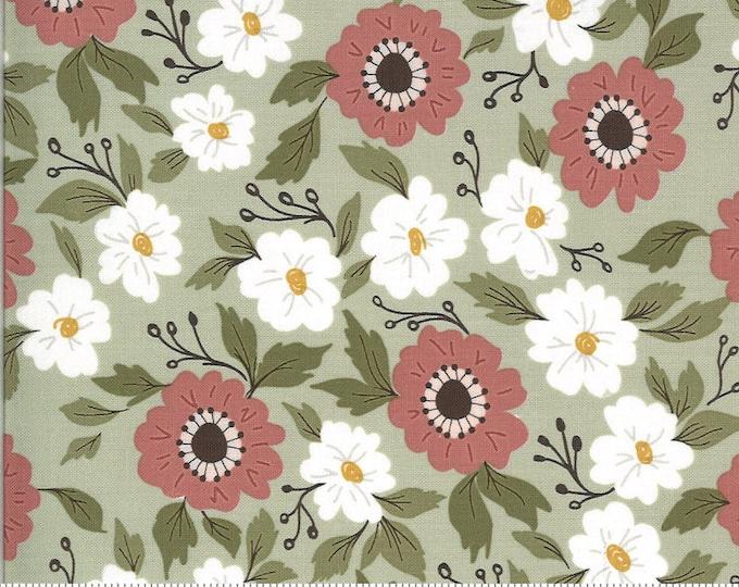 Folktale Forest Path Sage, Folktale by Lella Boutique, Moda Fabrics, Floral Fabric