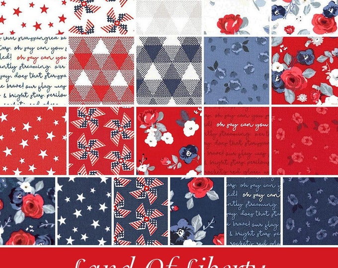 Land of Liberty 21pc Fat Quarter Bundle