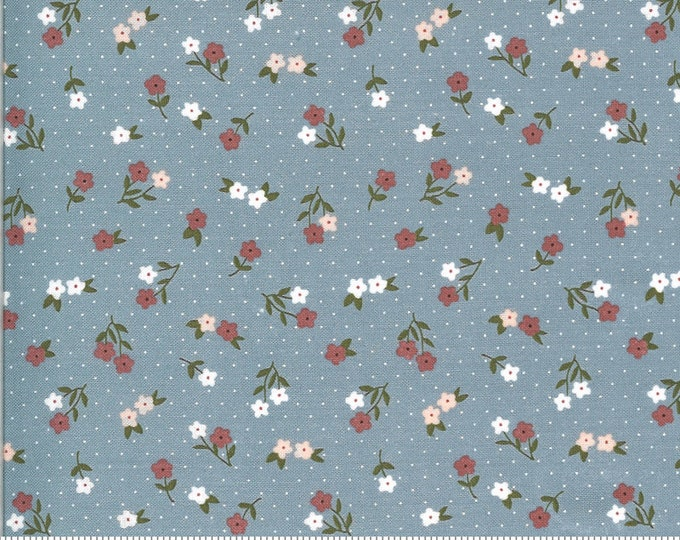 Folktale Posie Gathering Sky, Folktale by Lella Boutique, Moda Fabrics, Floral Fabric