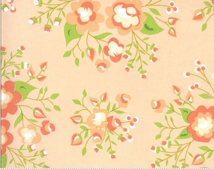 Apricot and Ash Fabric, Apricot Floral Fabric, Apricot and Ash by Corey Yoder, Moda Fabrics, Floral Fabric