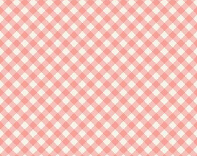 Gingham Garden Check Coral, My Minds Eye for Riley Blake Designs