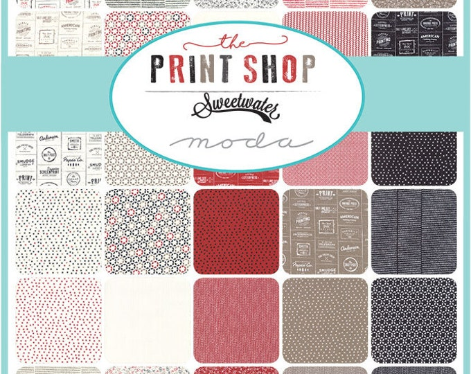 Print Shop Fabric Mystery Bundle, Assorted Fabric Bundle, Print Shop by Sweetwater, Moda