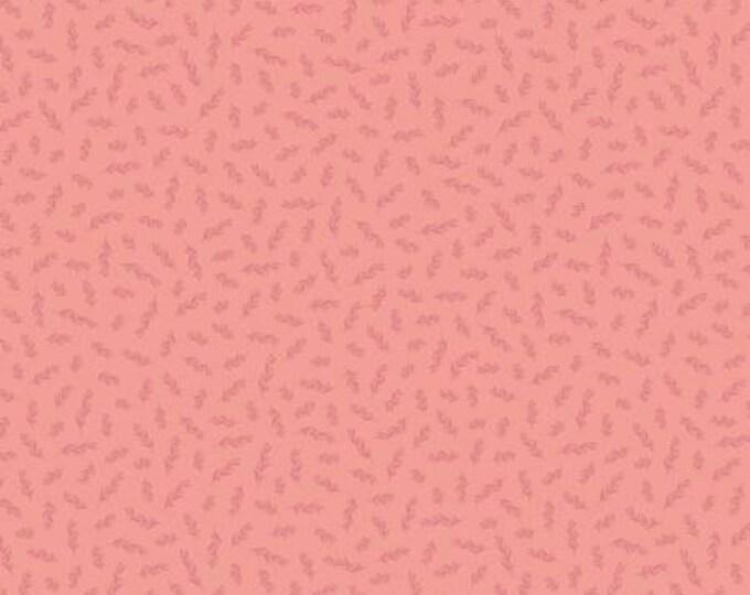 Gingham Garden Stem Coral, My Minds Eye, Riley Blake Designs, Floral Fabric, Yardage
