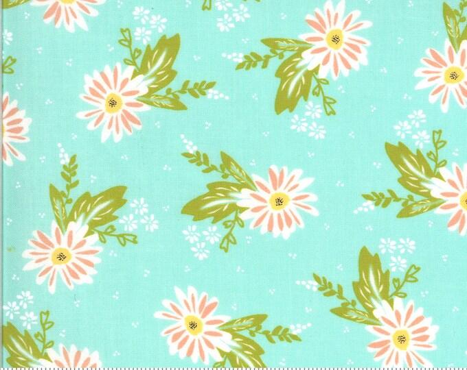 Happy Days Carnations Aqua by Sherri and Chelsi