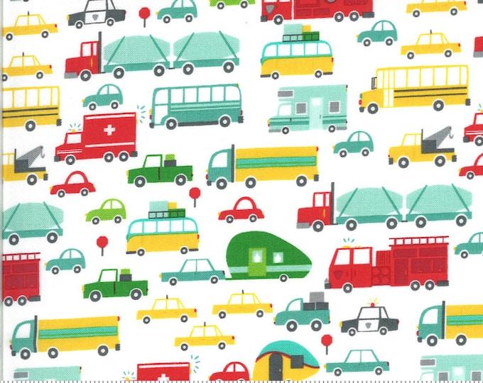 On The Go Beep Beep Cloud , On The Go by Stacy Iest Hsu, Moda Fabrics, Kids Fabric