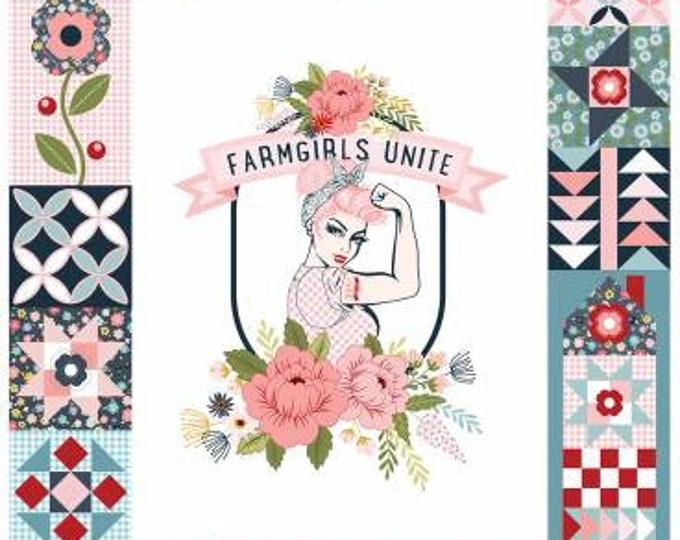 Farm Girls Unite Panel Muilt Rosie, Poppie Cotton