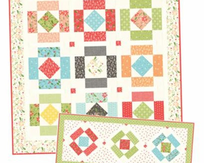 Simply Charming Quilt Pattern, A Quilting Life, Quilt Pattern, Table Runner Pattern