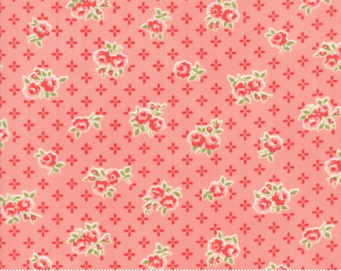 Early Bird Fabric Sweet Pink, Early Bird by Bonnie & Camille, Moda Fabrics, Floral Fabric
