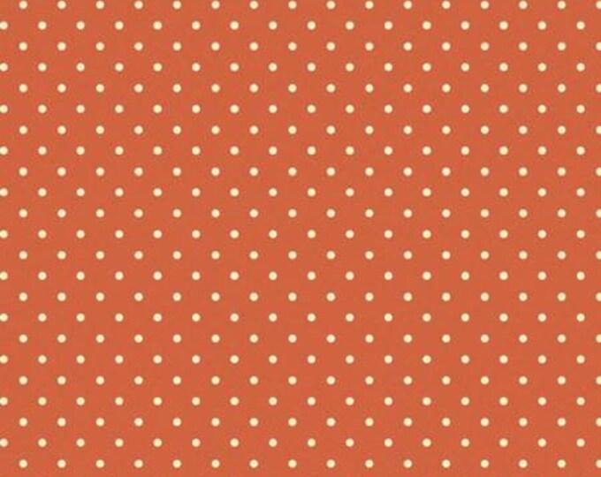 Spice Classic Dot, Maywood Studios, Beautiful Basics, Orange Dot Fabric