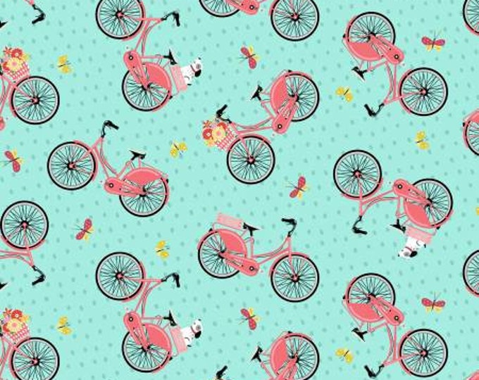 Adventure Time Teal Bike by Anne Rowan Collection for Wilmington Prints