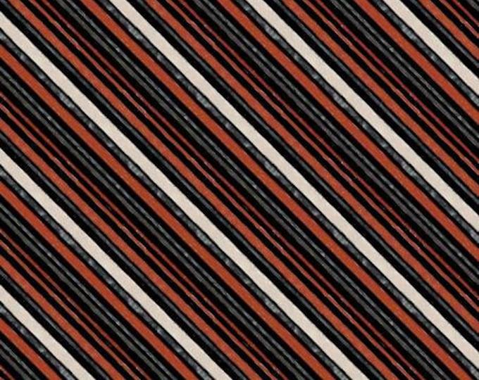 Free Range Fresh Fabric Black Diagonal Stripe by Katie Pertiet