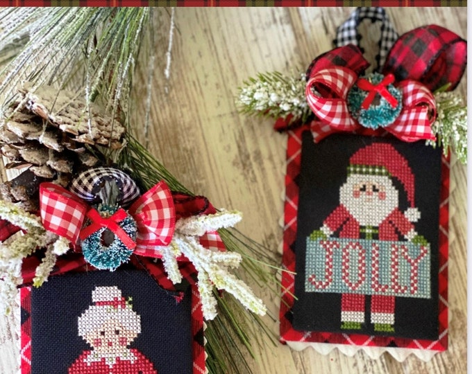 Jolly Claus and Merry Mrs Claus Cross Stitch