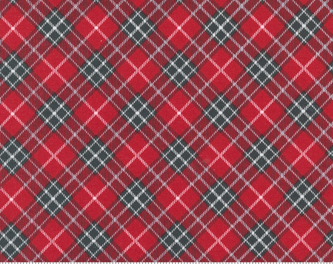 Red Barn Christmas Plaid Red, Sweetwater