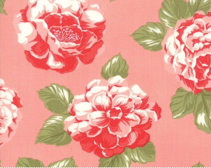Early Bird Pink Blooms, Early Bird by Bonnie & Camille, Moda Fabrics, Floral Fabric