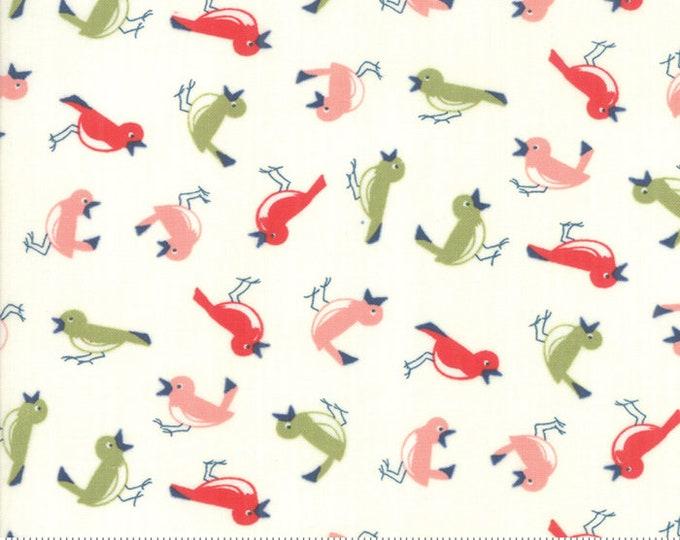 Early Bird Fabric Vintage Bird Cream, Early Bird by Bonnie & Camille, Moda Fabrics, Floral Fabric