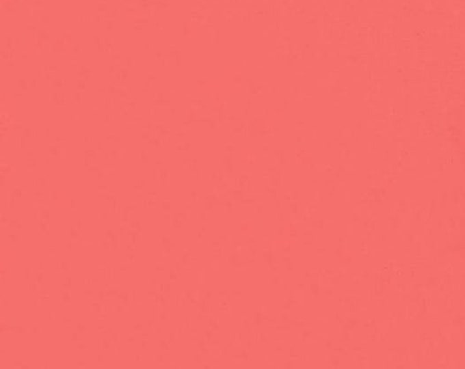 Bella Solid Strawberry Fabric, Solid Pink Fabric, Bella Solids by Moda Fabrics, Pink Fabric 9900 210
