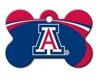 3e4d8e4263c Arizona Wildcats Dog ID Tags and Pet id tags - These are custom NCAA bone  shaped and personalized engraved