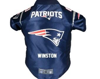 New England Patriots Pet Jersey Personalized XS-XXL NFL Pet Clothes    pet  apparel    pet clothing    cat clothes    dog clothes    sports 4b6b4fecc