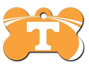 68d2088994e Tennessee Volunteers Dog ID Tags and Pet id tags - These are custom Custom  NCAA bone shaped and personalized engraved