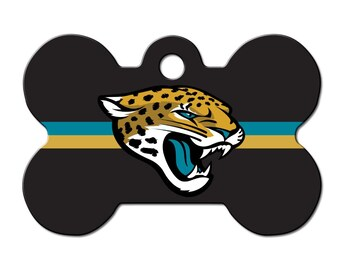 1c9b89a3b Jacksonville Jaguars Dog ID Tags for Cat ID and other pets - NFL bone  shaped and personalized engraved