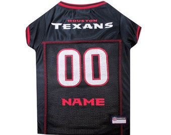 Houston Texans Dog Jersey Personalized XS-XXL NFL Pet Clothes    pet apparel     pet clothing    cat clothes    dog clothes    sports fan 9f3f0eca2