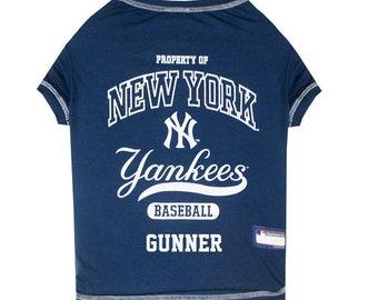 47ac19f58e1 New York Yankees Dog T-Shirt Personalized SM-XL MLB Pet Clothes    pet  apparel    pet clothing    cat clothes    dog clothes    sports