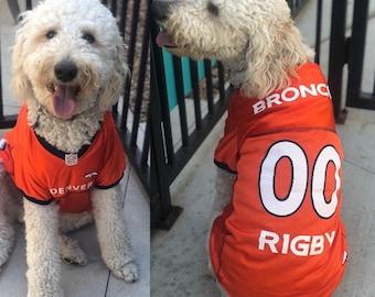 Denver Broncos Dog Jersey Personalized XS-XXL NFL Pet Clothes    pet apparel     pet clothing    cat clothes    dog clothes    sports fan 373310e6e