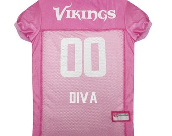 Minnesota Vikings Dog PINK Jersey Personalized XS-Lg NFL Pet Clothes    pet  apparel    pet clothing    cat clothes    dog clothes    sports 310870f2a