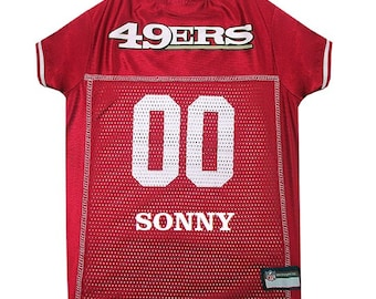 San Francisco 49ers Dog Jersey Personalized XS-XXL NFL Pet Clothes    pet  apparel    pet clothing    cat clothes    dog clothes    sports ef9c2ac52