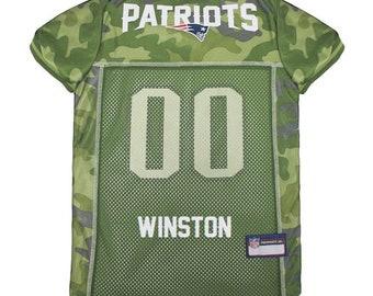 710b3d4282a New England Patriots Dog Jersey CAMO Personalized M-XXL NFL Pet Clothes //  pet apparel // pet clothing // cat clothes // dog clothes