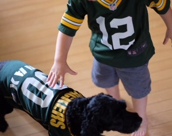 Green Bay Packers Dog Jersey Personalized XS-XXL NFL Pet Clothes    pet  apparel    pet clothing    cat clothes    dog clothes    sports fan 0db18f174