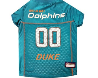 72bd240e0ab Miami Dolphins Dog Jersey Personalized XS-XXL NFL Pet Clothes // pet  apparel // pet clothing // cat clothes // dog clothes // sports fan