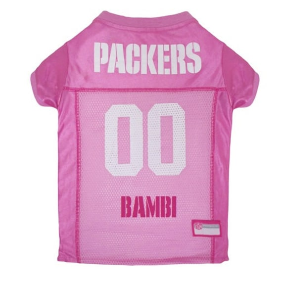 0bd5bf284 Green Bay Packers Dog PINK Jersey Personalized XS-Lg NFL Pet