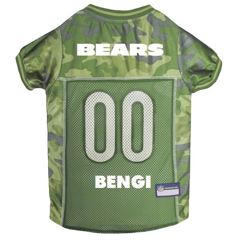 d9d898740e9 Chicago Bears Dog Jersey CAMO Personalized M-XL NFL Pet   Etsy