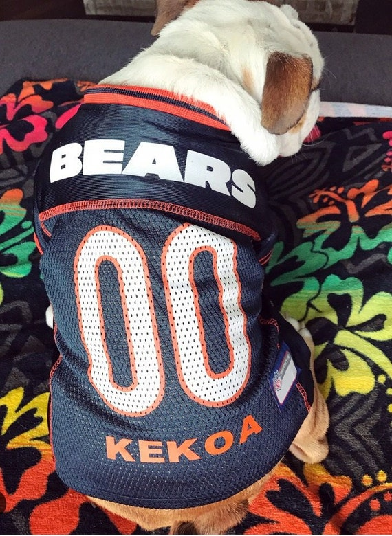 Chicago Bears Dog Jersey Personalized XS-XXL NFL Pet Clothes  0c1b9c398